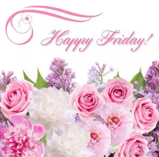 Happy Friday Image With Roses And Flowers Good Morning Images, Quotes, Wishes, Messages, greetings & eCards