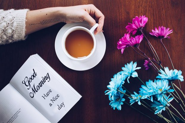Good Morning With Coffee And Flowers  - Good Morning Images, Quotes, Wishes, Messages, greetings & eCard