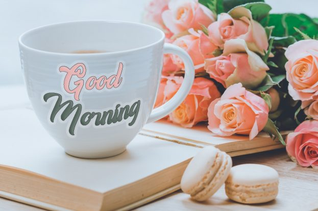 Good Morning Coffee With Flowers - Good Morning Images, Quotes, Wishes, Messages, greetings & eCard