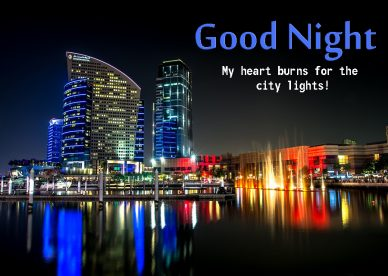 Good Night City Lights Images - Good Morning Images, Quotes, Wishes, Messages, greetings & eCard Images
