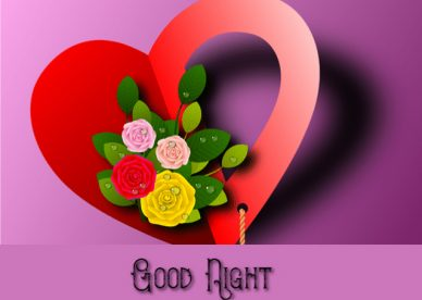 Good night Red Love Heart Images With Love - Good Morning Images, Quotes, Wishes, Messages, greetings & eCard Images